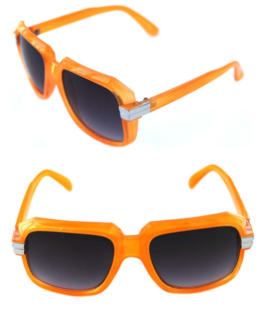e6ad62671077 Men s Hip Hop 80 s Vintage 607 Sunglasses Retro RUN DMC Orange Silver Frame   Unbranded  Retro