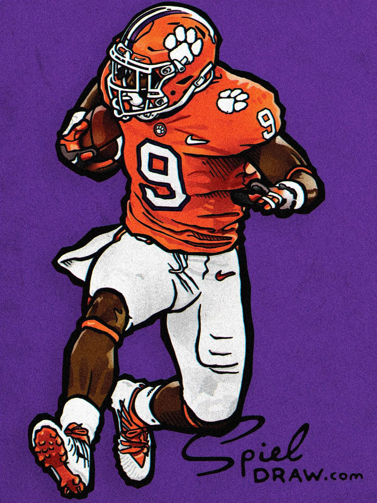 Pin On Clemson Athletics Spieldraw Illustrations