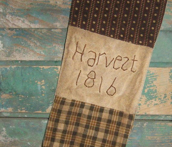 Hey, I found this really awesome Etsy listing at https://www.etsy.com/listing/160216511/primitive-stocking-harvest-1816-early