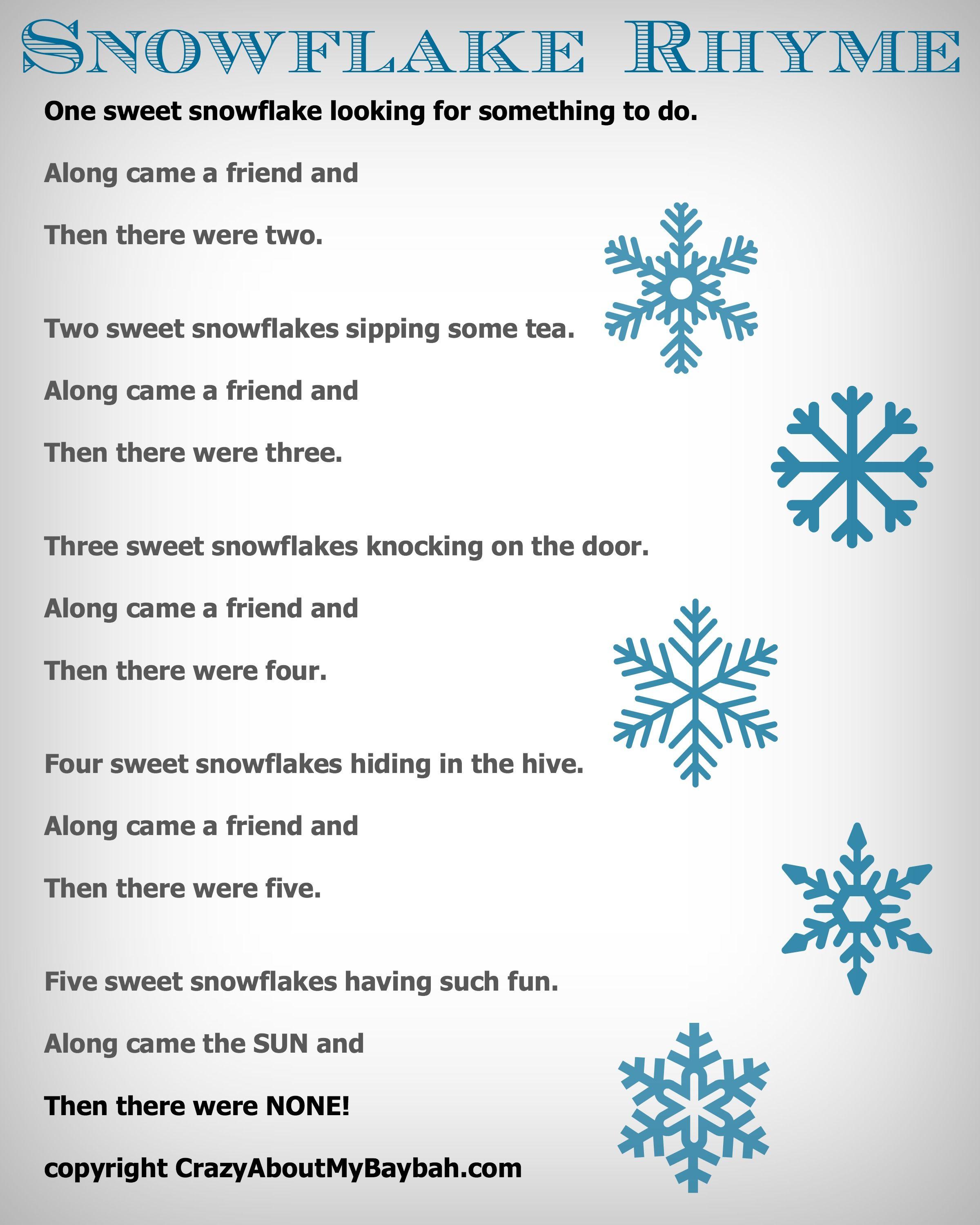 25 Winter and Christmas Crafts for Kids Felt Board Snowflake Rhyme ...