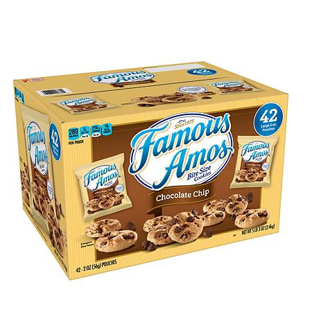 Famous Amos Chocolate Chip Cookies 2 Oz 42 Ct Sam S Club Famous Amos Cookies Famous Amos Chocolate Chip Cookies