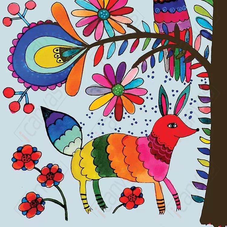 otomi colors canvas wall art by sylvie demers icanvas on icanvas wall art id=18580