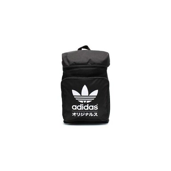 05332fa9fb5 ADIDAS ORIGINALS TYPO CLASSIC BACKPACK BLACK WHITE TREFOIL Japan bag... ❤  liked on Polyvore featuring bags, backpacks, black white bag, black and  white bag ...