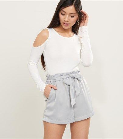 Long Sleeve Cold Shoulder Knit Top