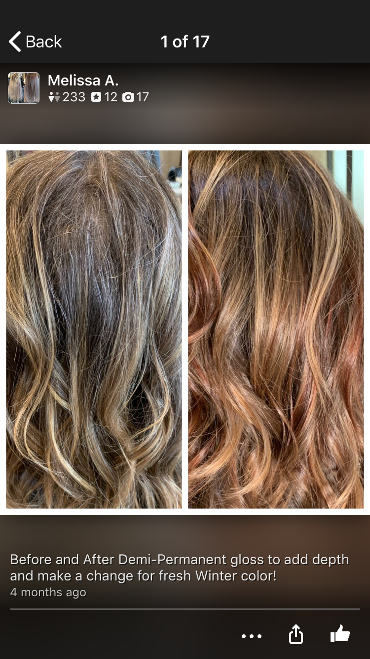 Before And After Aveda Demi Permanent Red Color By Establishment Salon La Aveda Hair Color Light Copper Hair Red Hair Color