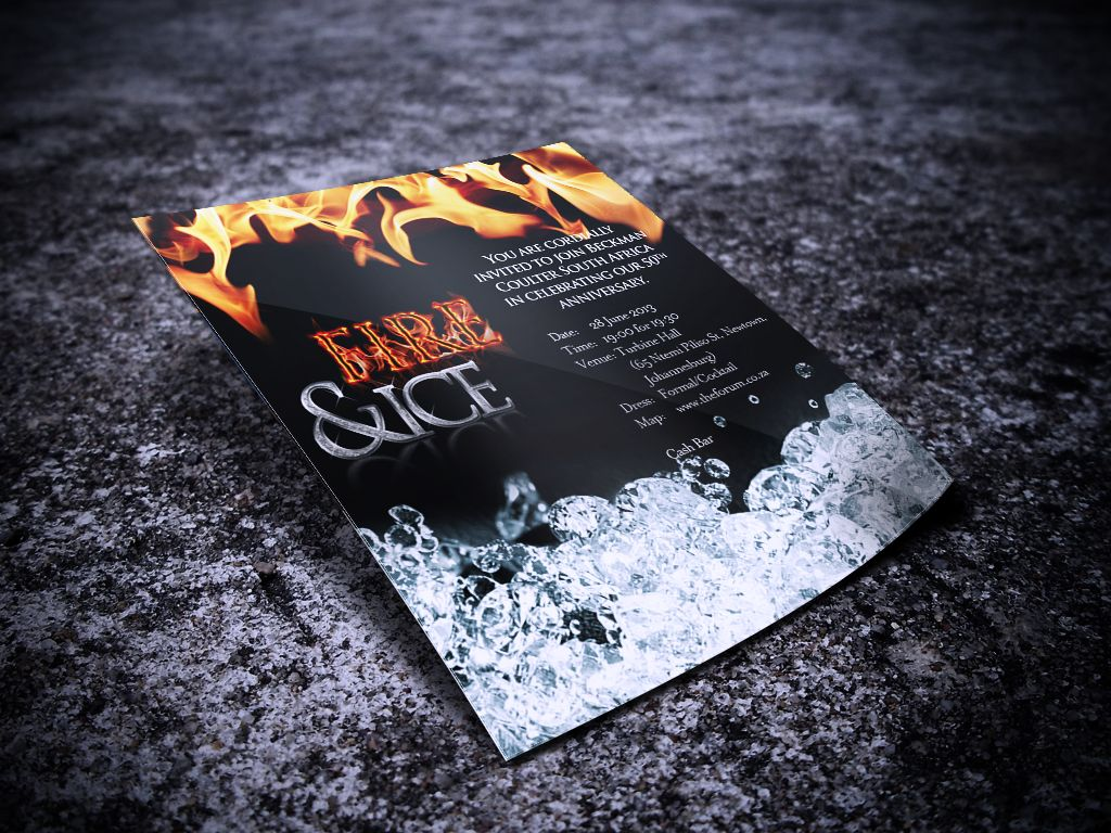 Fire Ice invitation Marketing collateral Pinterest Prom