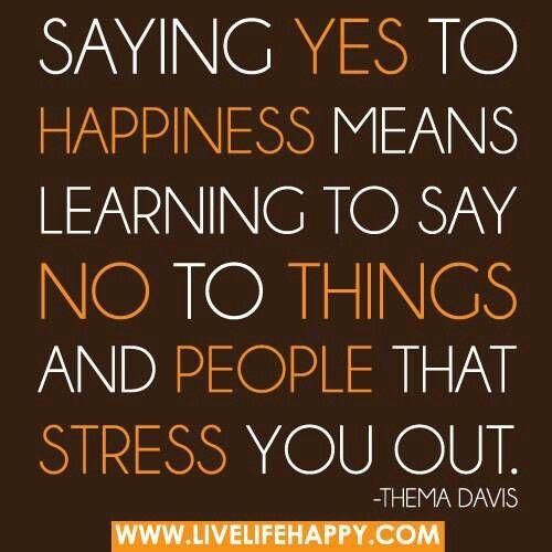 getting rid of negativity = happy