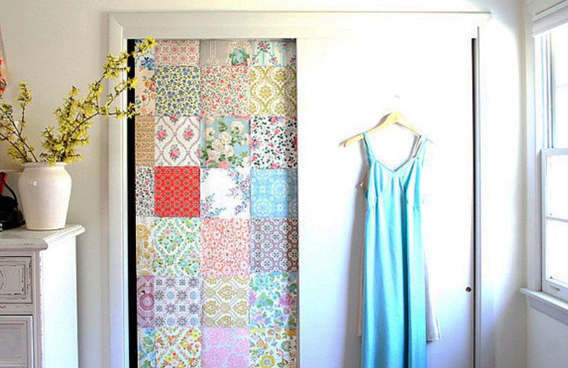 Image Result For Wallpapered Kitchen Cabinet Doors