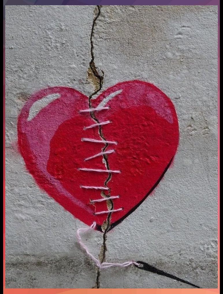 ein gebrochenes herz wird repariert   streetart