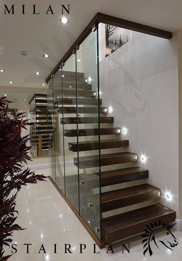 Best The Milan Staircase With Black Walnut Stair Treads 400 x 300
