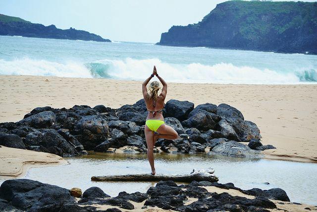 Yoga in Hawaii. Me!