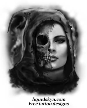 lady grim reaper exceptionaly awesum tattoos pinterest. Black Bedroom Furniture Sets. Home Design Ideas