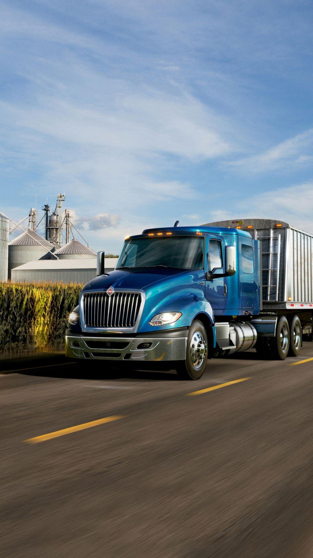 On Road Blue Truck 1080x1920 Wallpaper Trucks Car Wallpapers Blue Dump truck wallpapers cars wallpapers hd