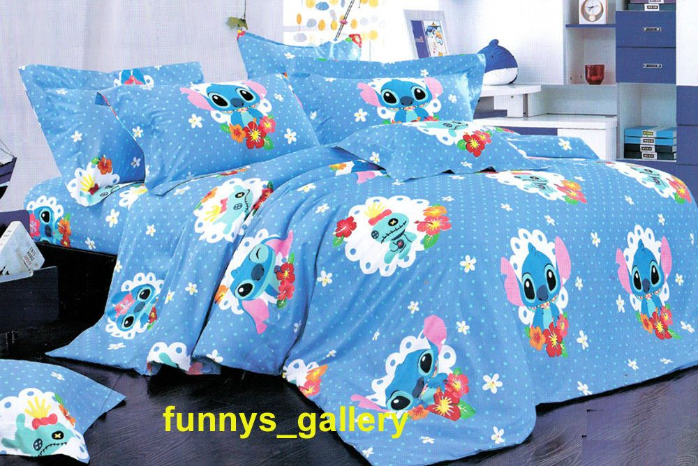 Lilo Stitch Bedding Set B Fitted Sheet Duvet Cover Sheet And 2