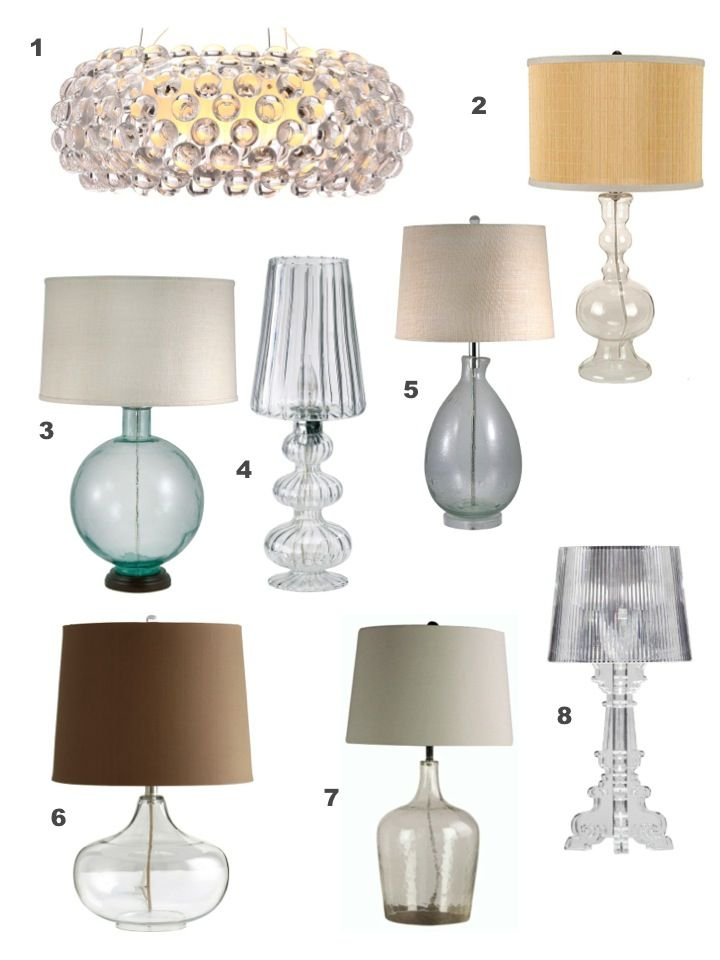 Take Your Pick Of These Clear Glass Lamps