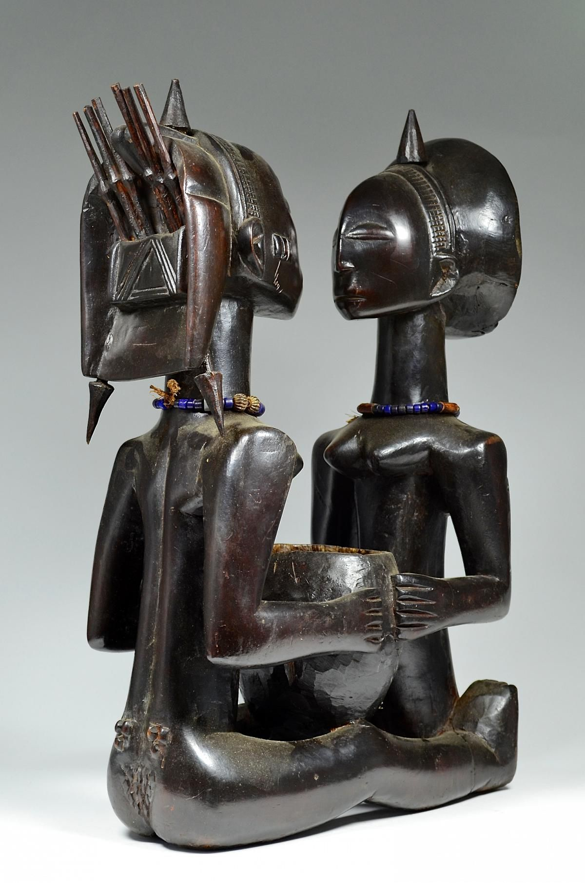 Ethnic group: Luba Country of origin: D.R. Congo Material: Beads, Wood Approximate age: Mid 20th C Dimensions: 61 cm