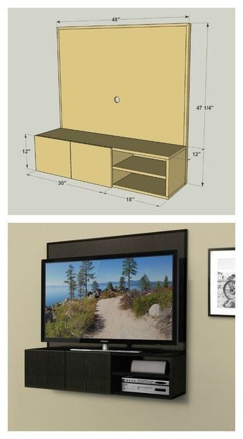 This Wall Mounted Media Cabinet  (Need To Build One For A 70 Inch Tv  Instead Of 50) | Cabinet | Pinterest | 70 Inch Tvs, Media Cabinet And Wall  Mount