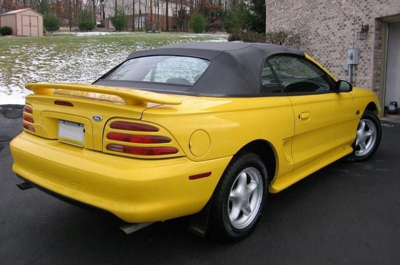 1995 Mustang GT Convertible Canary Yellow  Mustangs  Pinterest