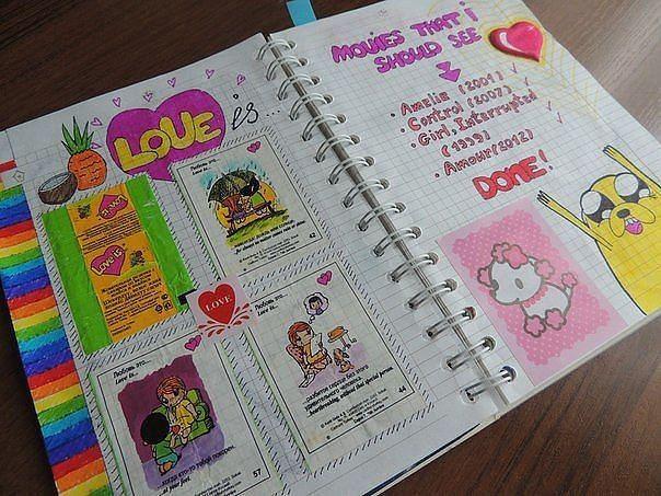 Личный дневник оформление внутри своими руками фото фото 993