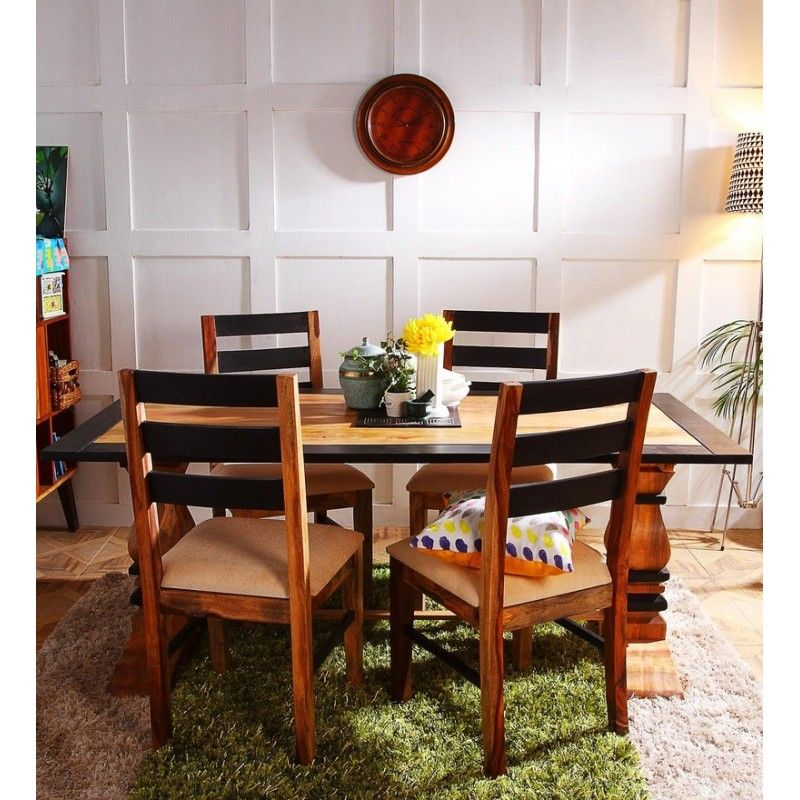 Buy four seater dining table set online India at the best price ...