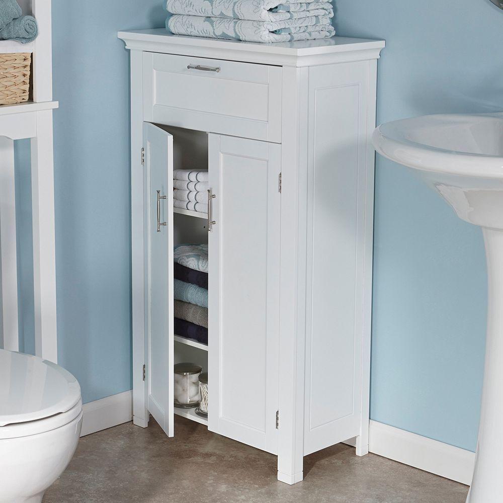 Riverridge Home Somerset Two Door Storage Floor Cabinet White In 2020 Cabinet Shelving Vanity Bathroom Cabinets