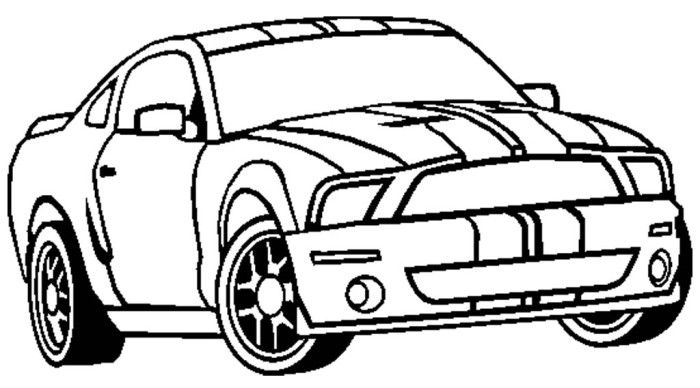 Ford Shelby Gt500 Coloring Page Cars Coloring Pages
