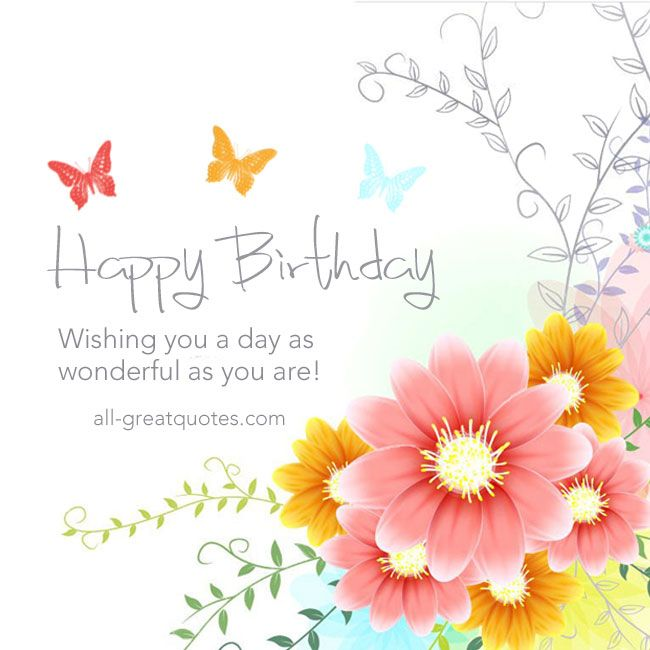 Happy Birthday – Free Birthday Messages for Cards