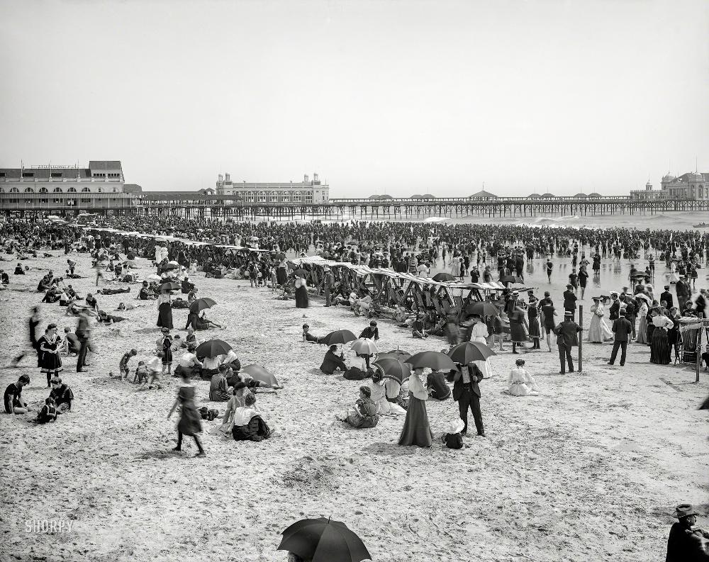 Coney Island beach, 1904 | Shorpy historical photos