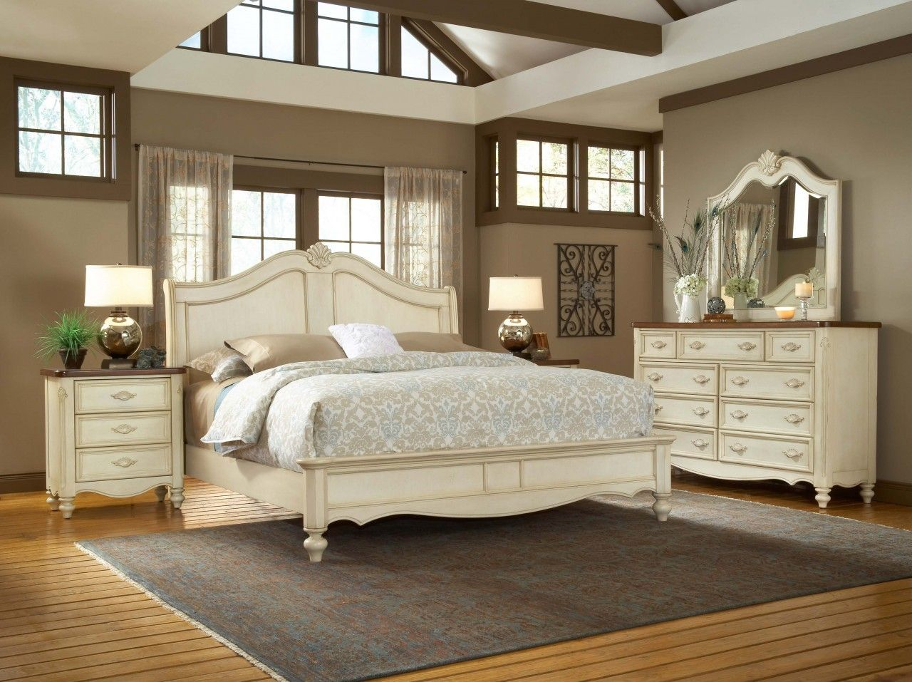 Off White Bedroom Furniture American Woodcrafters Chateau