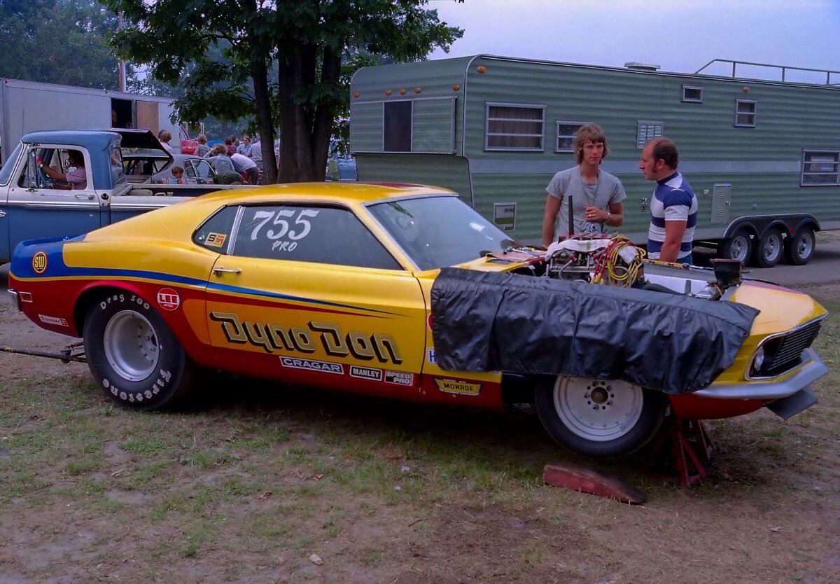 Vintage Drag Racing Pro Stock Ford Mustang Mach I