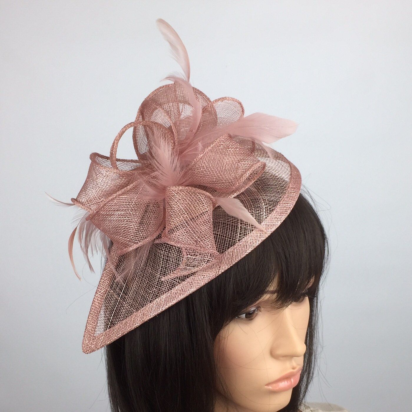 Dusky Blush Pink Fascinator Wedding Mother Pf The Bride