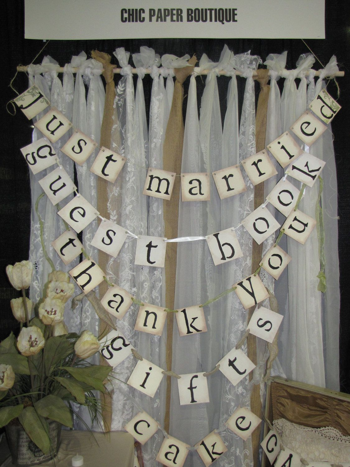 BURLAP and LACE BACKDROP Burlap and Lace Wedding