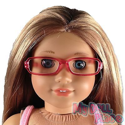 Pink Rim Eye Glasses made for 18 inch American Girl Doll Clothes Accessories