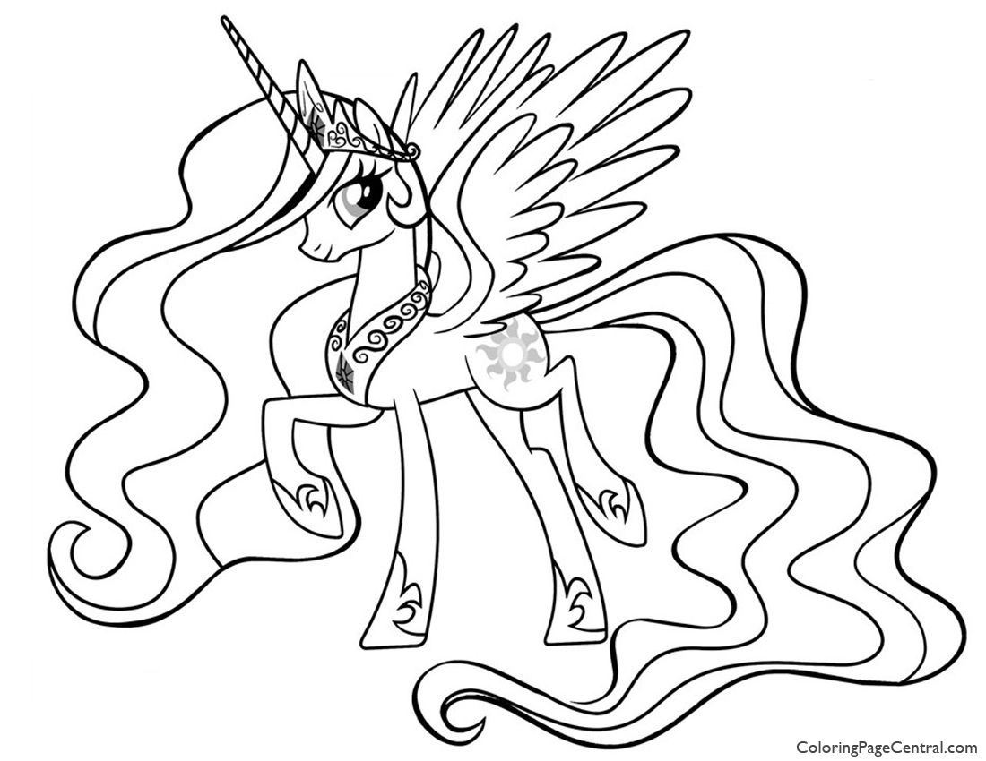 coloring+pages | ... Pony – Princess Celestia 01 Coloring Page ...