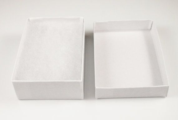 50 Pack White Cotton Filled Gift Boxes jewelry by SupplyOverflow