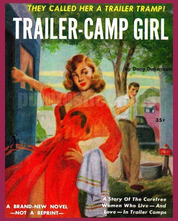 pulp art print Trailer Camp Girl — vintage pulp paperback cover repro | Buy Wholesale Copy Pa...