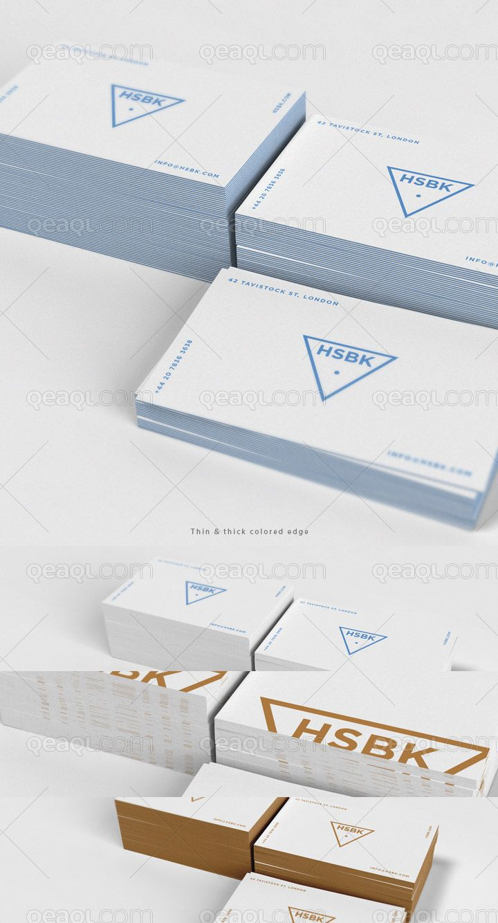 Business Card Mock Up With Special Feature Editable Edge Color The Background Color And Texture Are