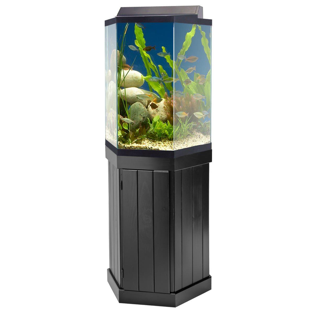 Fish aquarium in rawalpindi - Hexagon Fish Aquarium With Stand