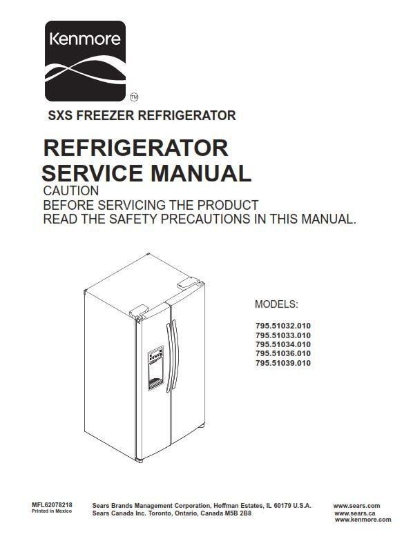 kenmore 795 51032 51033 51034 51036 51039 010 models original rh pinterest com kenmore refrigerator manual 106 sears refrigerator manual pdf
