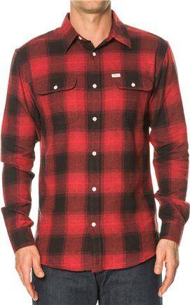 Red L MATIX Cheville Flannel Shirt