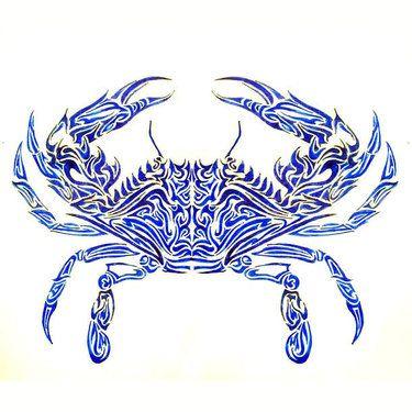 Blue Crab Tattoo Design Crab Tattoo Cancer Crab Tattoo Crab Art