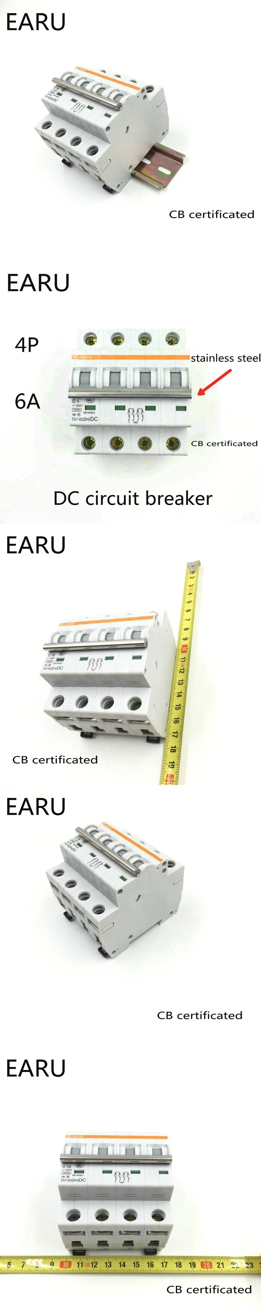 4p 6a Dc 1000v Circuit Breaker Mcb For Pv Solar Energy Photovoltaic System Battery C