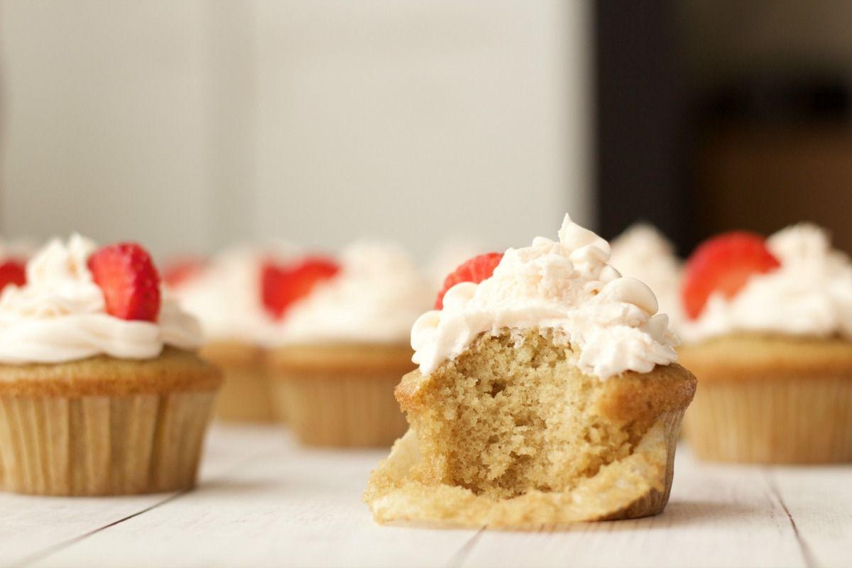 Vegan Vanilla Cupcakes With Strawberry Vanilla Frosting Vegan Lovingitvegan Vanilla Cupcakes Vegan Vanilla Cupcakes Vegan Cupcake Recipes Vanilla Cupcakes