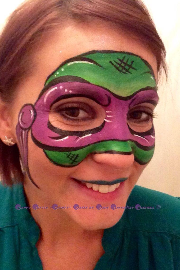 Donatello TMNT face paint. Ninja turtles by me painted on ...