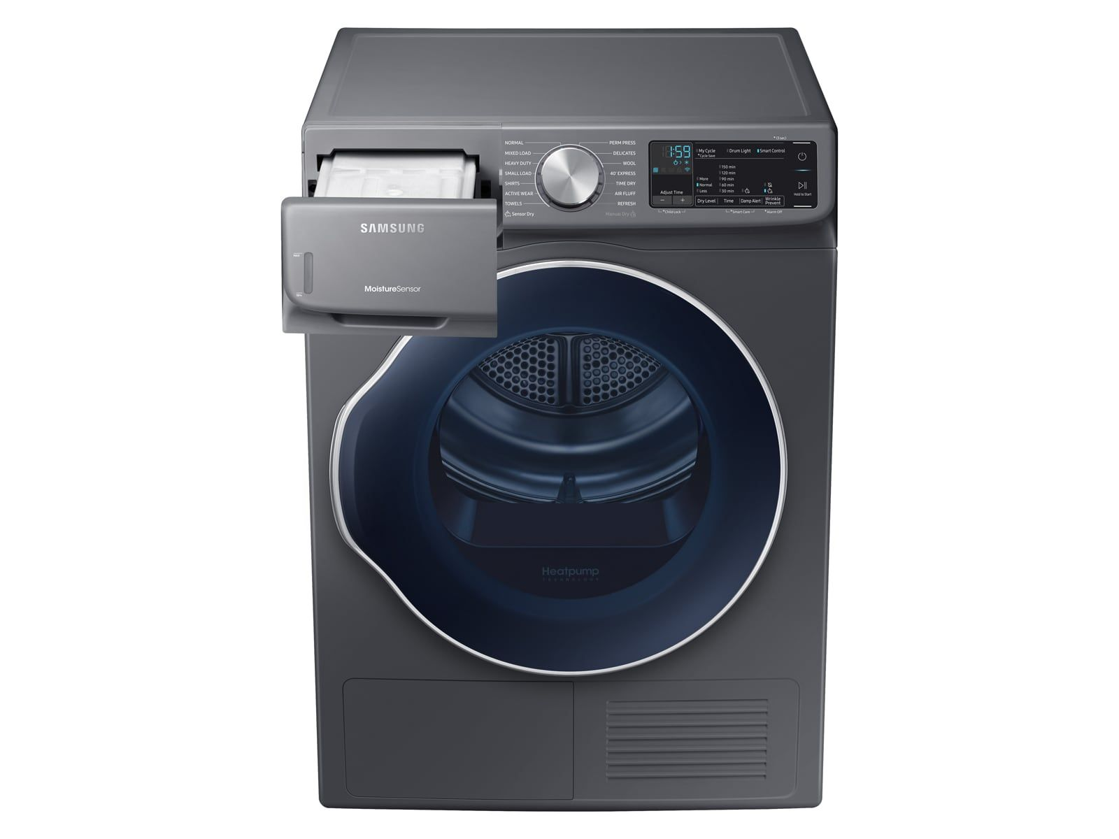 Heat Pump Clothes Smart Dryer 4 0 Cu Ft In Inox Grey Dv22n6850hx Samsung Us Heat Pump Pumps Electric Heat Pump