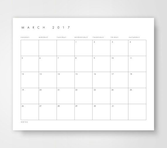 Desk Calendar, 2017 Monthly Desk Calendar, Printable Desk Calendar ...