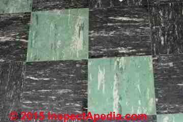 Color Guide To Identify Asphalt Asbestos Vinyl Asbestos Floor Tiles Tile Floor Flooring Colorful Tile Floor