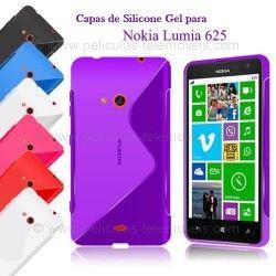 Capa Silicone Nokia Lumia 625 + Película