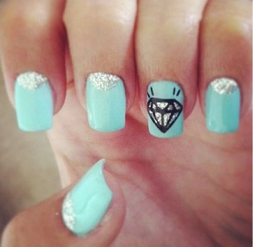 35 Best Diamond Nail Art Ideas 2014 | Nail Design Ideaz - 35 Best Diamond Nail Art Ideas 2014 Nail Design Ideaz Cute