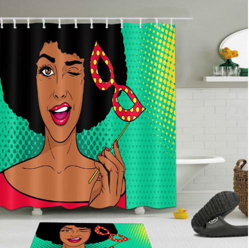 Photo of Afrocentric Shower Curtain – Home Decorations – Small (59 x 70 inches) / 1